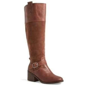 Lucky Brand Kailan Ankle Strap Tall Boot. Size 7